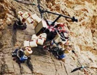 robot explorador expacial Lemur asciende por paredes verticales