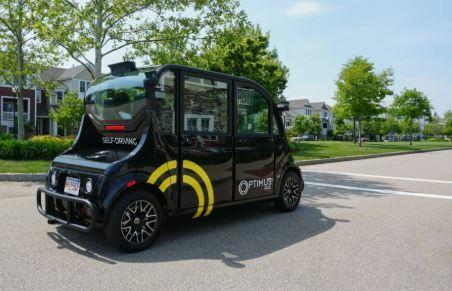 Un robot de nombre Optimus Ride es un AGV creado en Boston